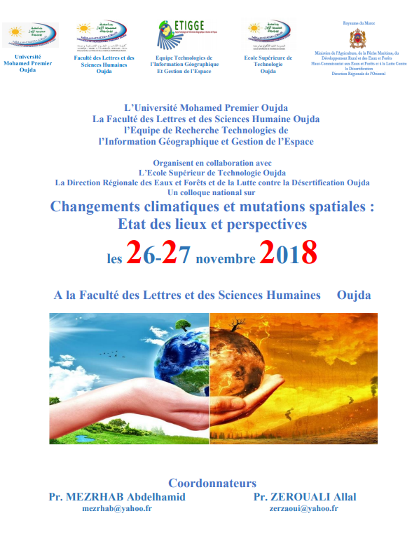 Le Groupe de recherche sur les technologies de l'information géographique et la gestion sur le terrain organise un séminaire national sur le changement climatique et les transitions : bilan et perspectives