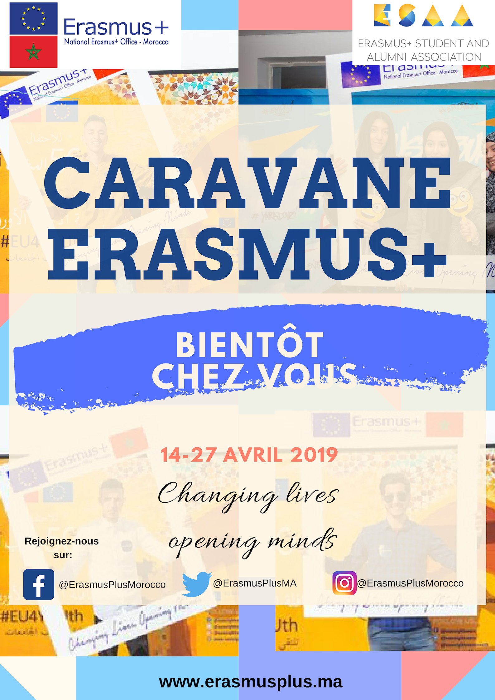 La caravane Erasmus+ : Changing lives, opening minds