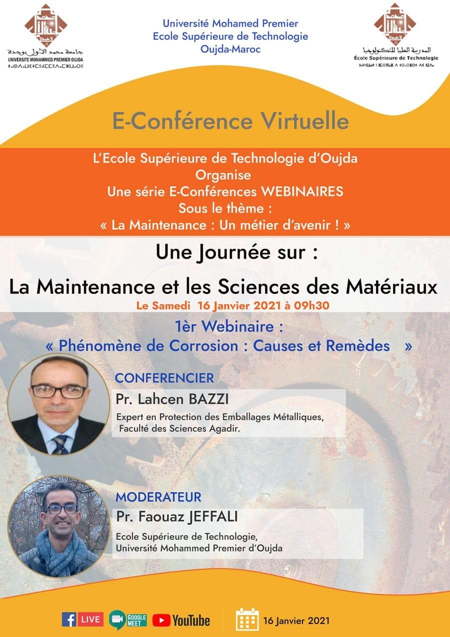Une Journée sur: La maintenance et les Sciences des Matériaux