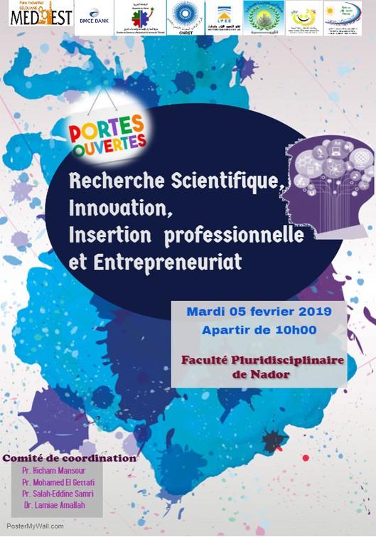 Journée Portes Ouvertes sous le thème : « Recherche Scientifique, Innovation, Insertion professionnelle et Entrepreneuriat »