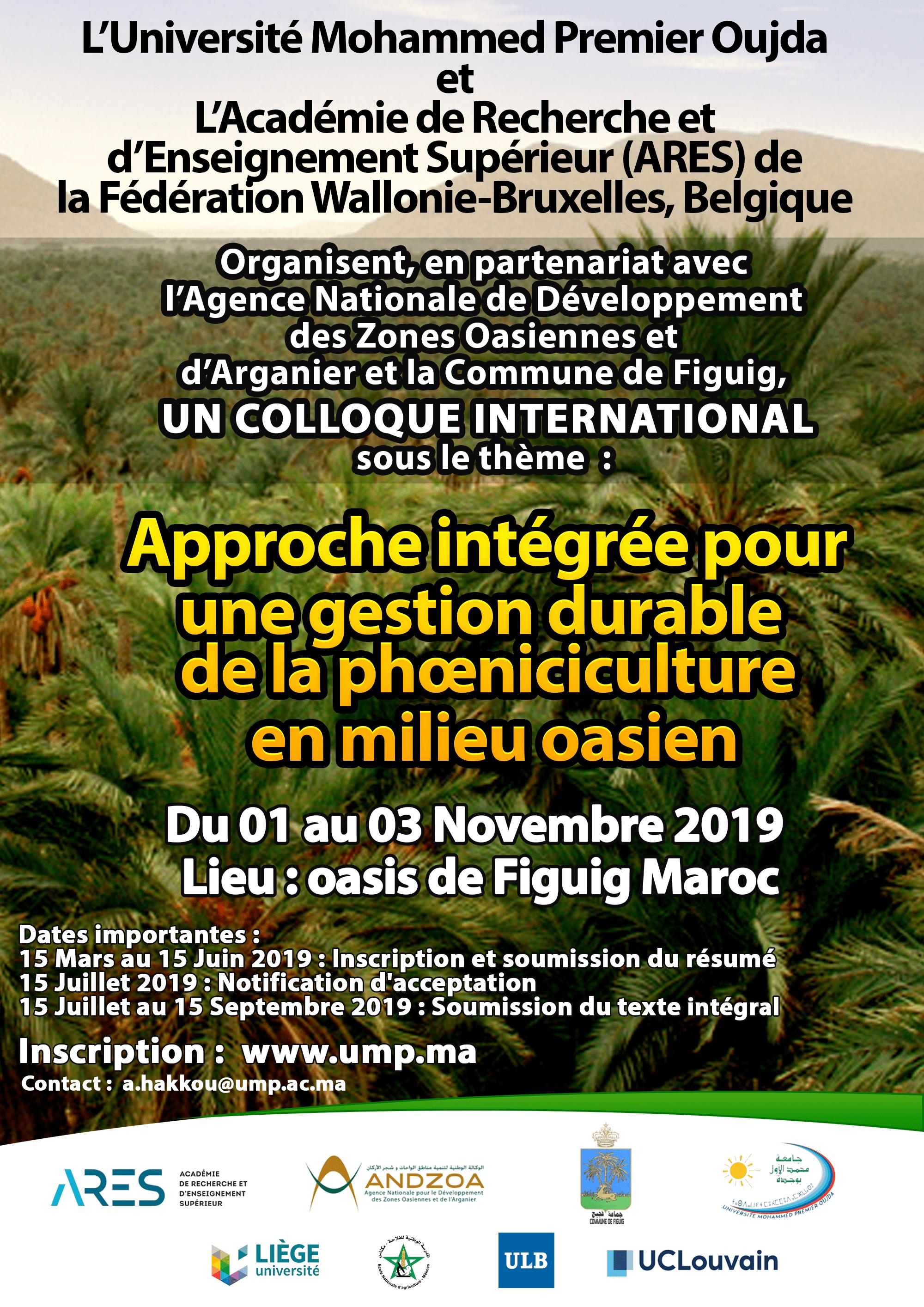 Approche intégrée pour une gestion durable de la phœniciculture en milieu oasien
