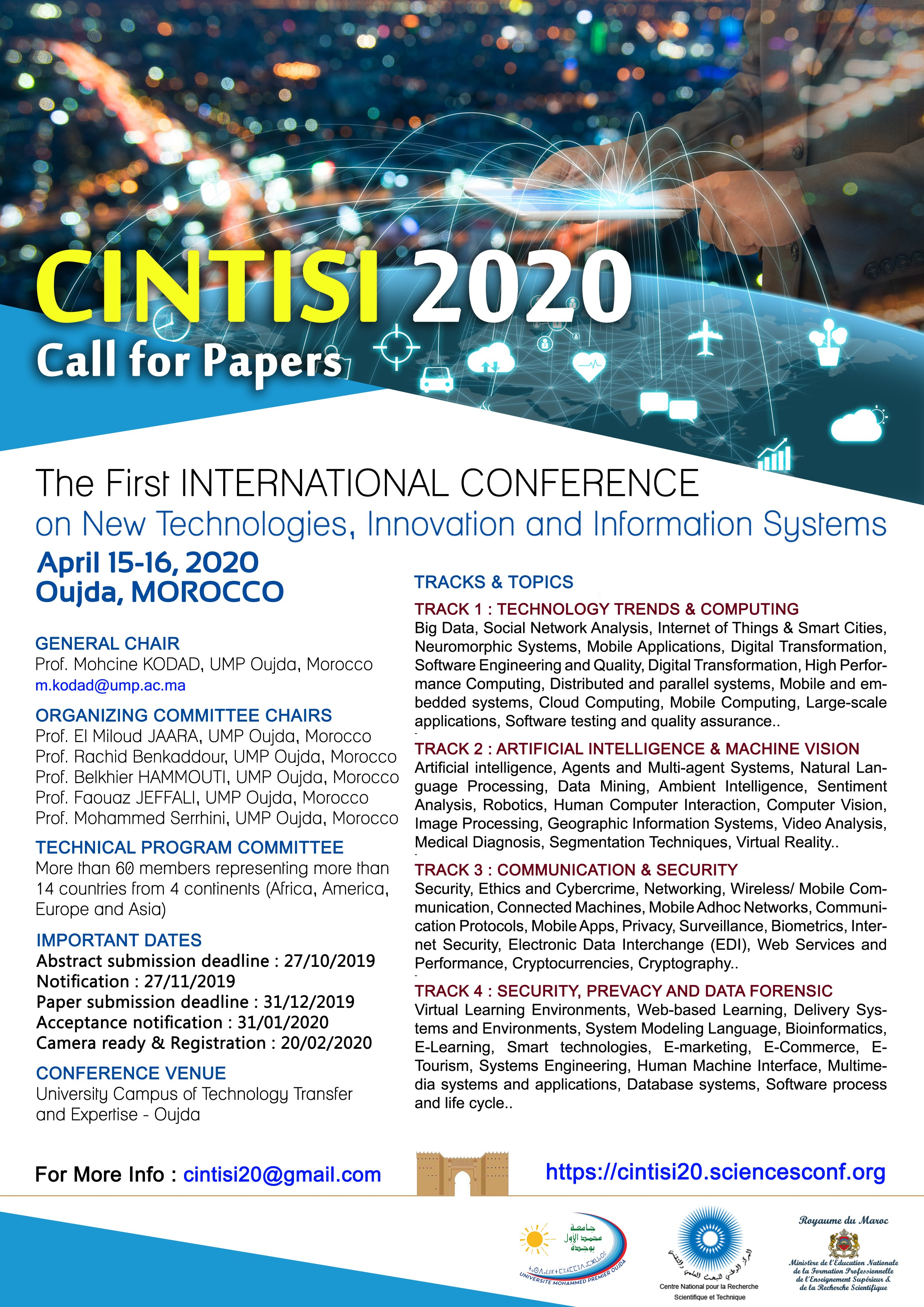 International Conference on New Technologies, Innovation and Information Systems (CINTISI'20)