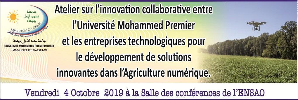 Atelier sur l'innovation collaborative entre l'Université Mohammed Premier et les entreprises technologiques pour le développement de solutions innovantes dans  l'Agriculture numérique